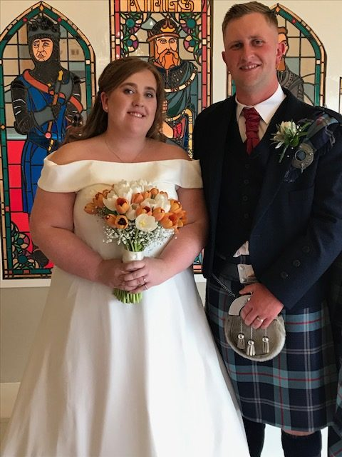 Kirsty and Gavin's wedding at the Three King's, Shieldhill